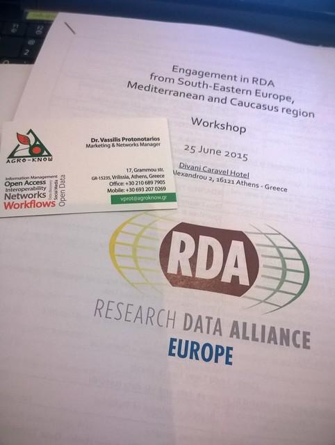 RDA Regional Workshop for Southern-Eastern Europe, Mediterranean and Caucasus region