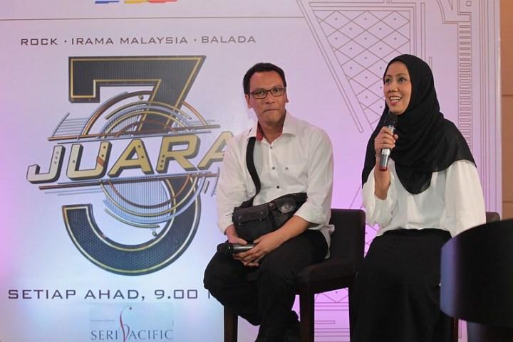 En Sufian dan Pn Zurina ketika sesi temu bual bersama media