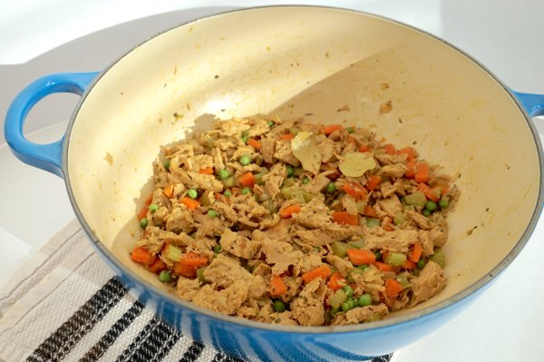 Chicken Pot Pie Mirepoix with Chicken | thelittleredspoon.com