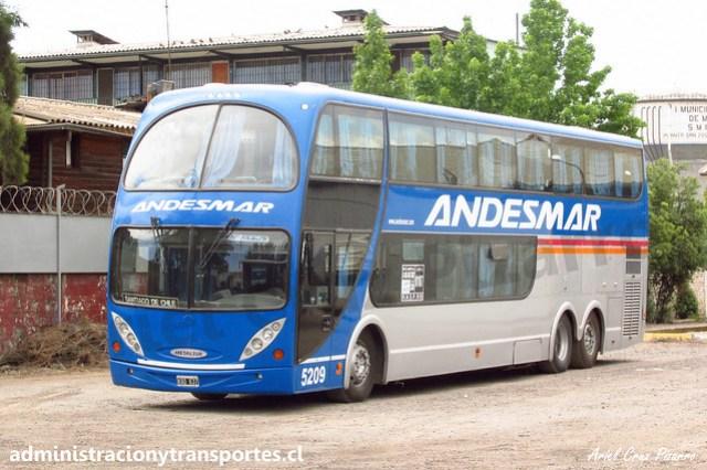 Andesmar 5209 | Santiago, Chile | Metalsur Starbus 1 - Mercedes Benz / KQO637