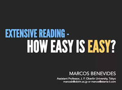 Extensive Reading - How Easy Is Easy? (Marco Benevides)