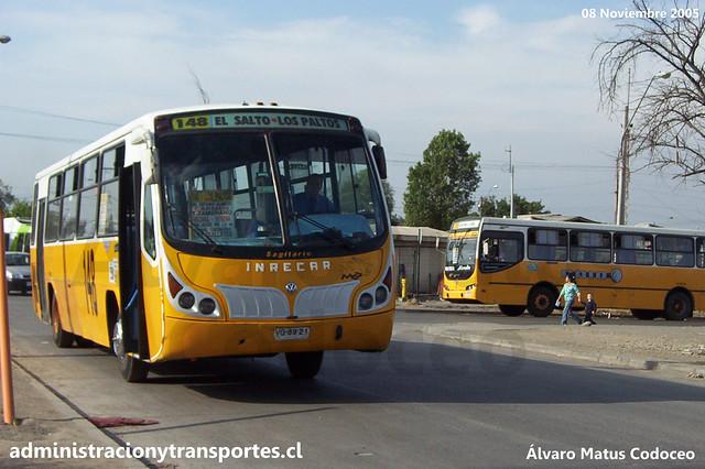 Micro Amarilla 148 | Inrecar Sagitario - Volkswagen / VG6821