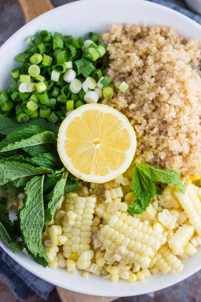 Lemony Corn and Quinoa Salad with Mint Recipe