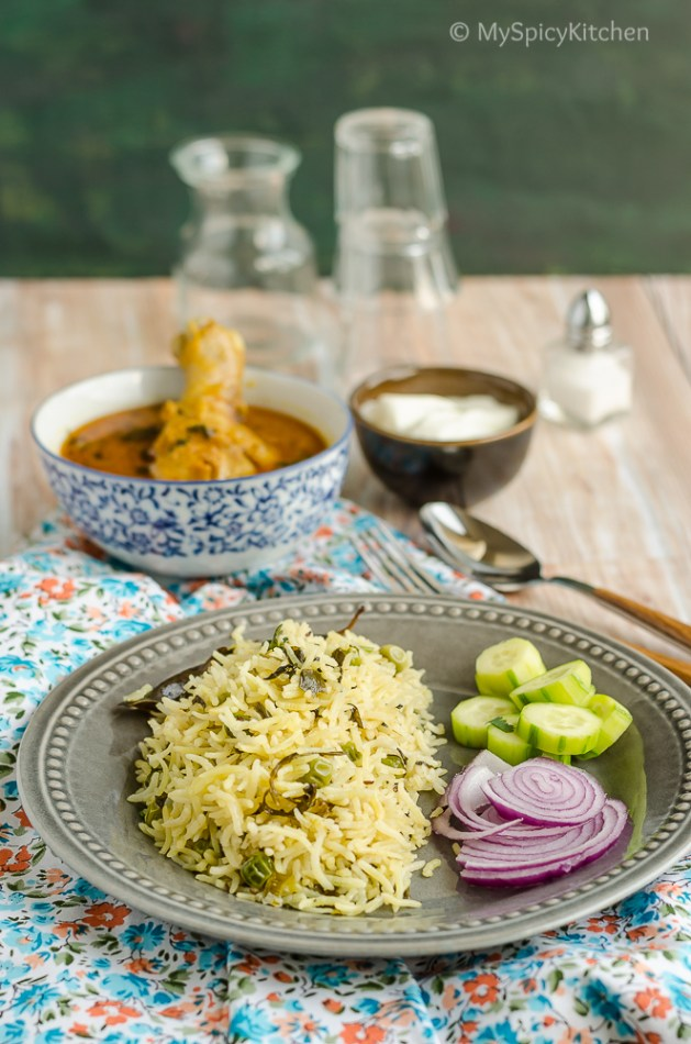 Fresh Methi Pulao, Fresh Methi, Fresh Fenugreek Leaves, Methi Leaves, Bagara, Methi Pulao, Methi Green Peas Pulao, Methi  Rice, Fenugreek Rice, Blogging Marathon, Rice Dishes,
