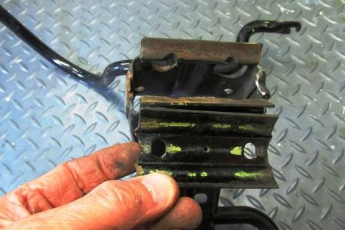 Broken Upper Fairing Bracket Steering Stem Mount