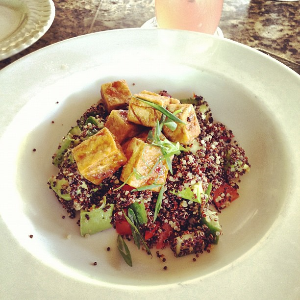 My tofu quinoa salad foodstagram, for @kennapzok. This is FAVORITE meal.