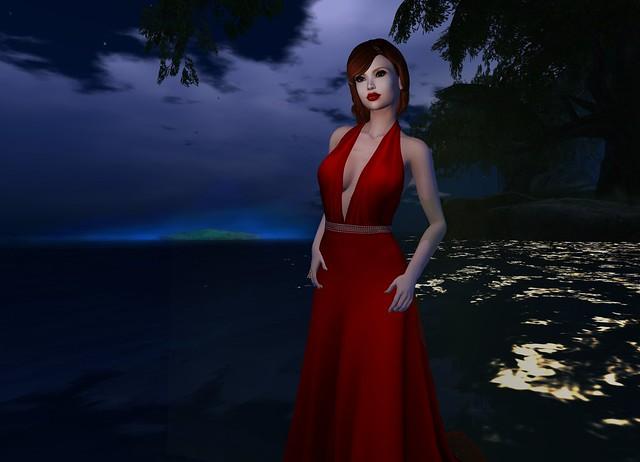 My red dress, my blue sunset