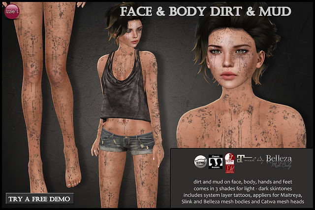 Face & Body Dirt & Mud (for MBA)