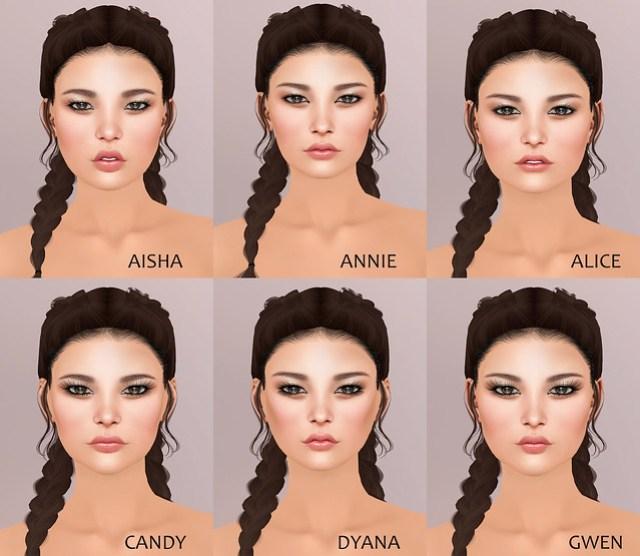 Aiko Skin on Catwa Heads