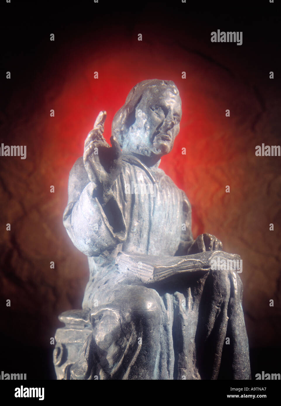 statue statuette of Martin Luther Lutheran church founder 15th Stock     statue statuette of Martin Luther Lutheran church founder 15th century 16th  century copy space
