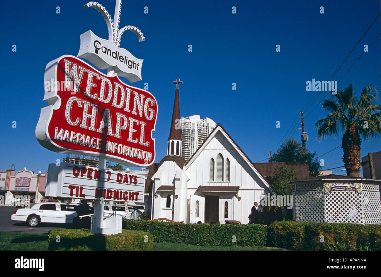 stock photo candlelight wedding chapel las vegas nevada usa vegas wedding chapels Candlelight Wedding Chapel Las Vegas Nevada USA