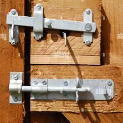 C8 Alamy Comcompbd10w1wooden Gate Lock and Latc