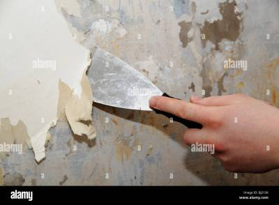 stripping wallpaper Stock Photo: 28318956 - Alamy