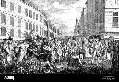 street scene, mid-18th century, London, England Stock Photo: 52664230 - Alamy