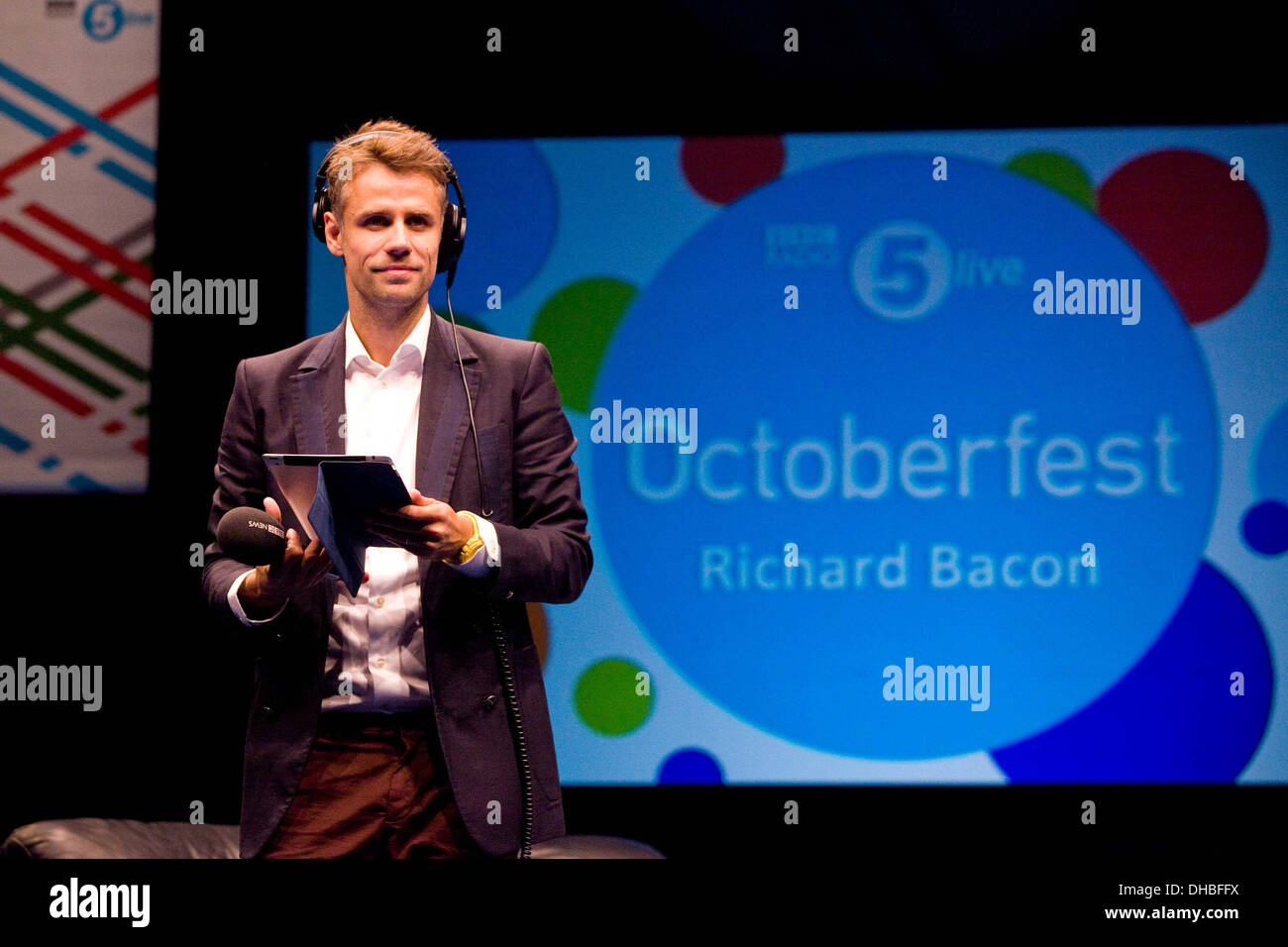 Bbc Radio 5 Stock Photos   Bbc Radio 5 Stock Images   Alamy Richard Bacon at BBC Radio 5 Live Octoberfest in Sheffield Thursday 11 10 12