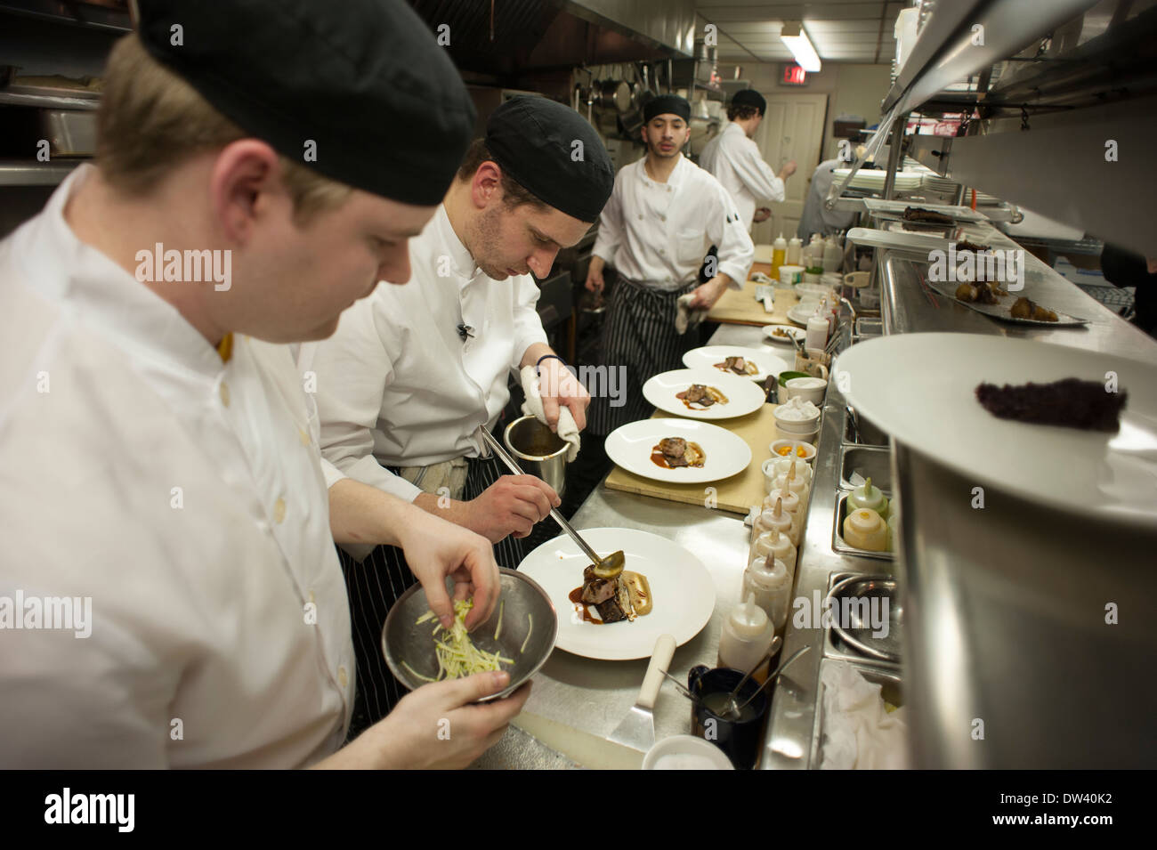 Busy Restaurant Kitchen busy restaurant kitchen chefs working in intended decorating
