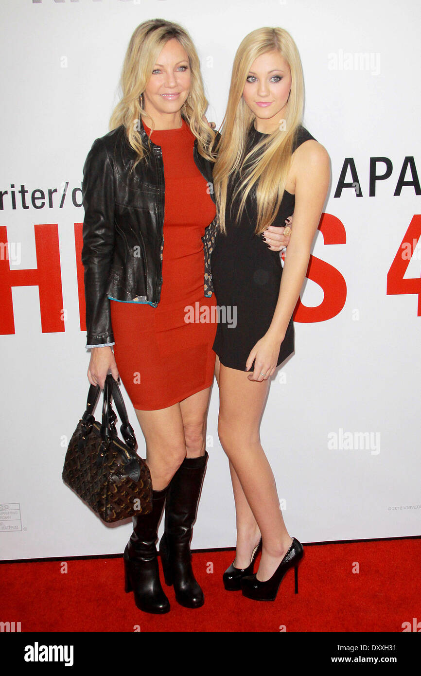 Heather Locklear Arrivals 40 Premiere Stock Photos   Heather     Heather Locklear Ava Sambora Los Angeles premiere of  This Is 40  at  Grauman s Chinese