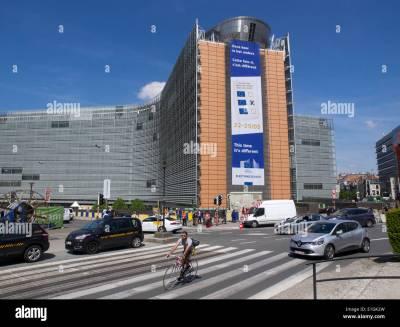 Berlaymont European Commission building in Brussels, Belgium Stock Photo, Royalty Free Image ...