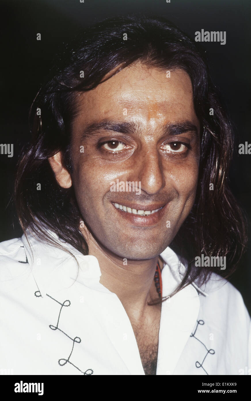Portrait of Indian film actor Sanjay Dutt Stock Photo  69894141   Alamy Portrait of Indian film actor Sanjay Dutt