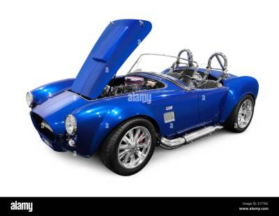 1966 Ford 427 Shelby AC Cobra custom classic sports car. Isolated on Stock Photo, Royalty Free ...