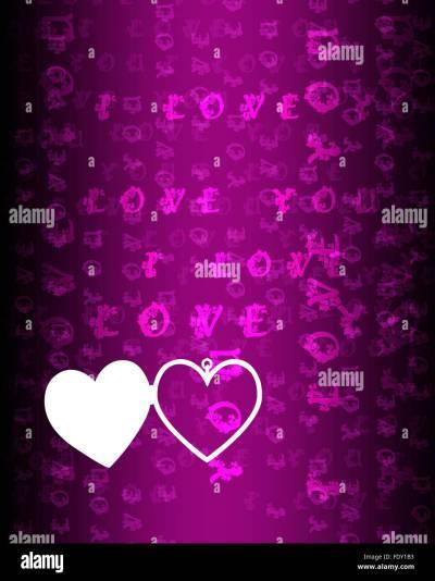 Wallpaper Love Against Colour Background Stock Photos & Wallpaper Love Against Colour Background ...