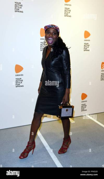 Dancer and host Nikeata Thompson at the Zalando Fashion x Sports Stock Photo, Royalty Free Image ...