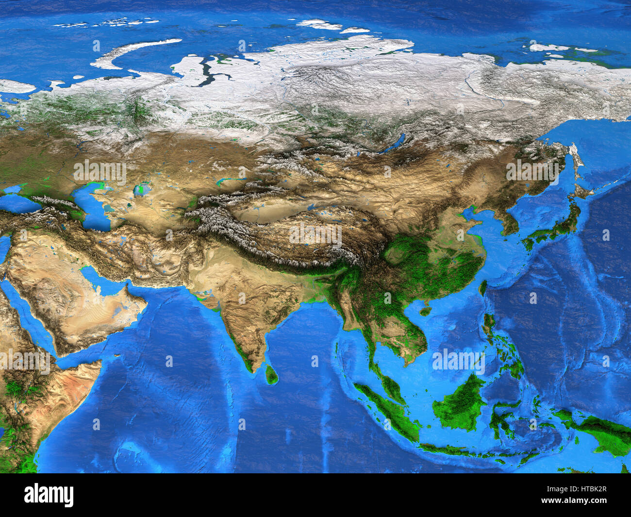 Satellite View Stock Photos   Satellite View Stock Images   Alamy Detailed satellite view of the Earth and its landforms  Asia map  Elements  of this
