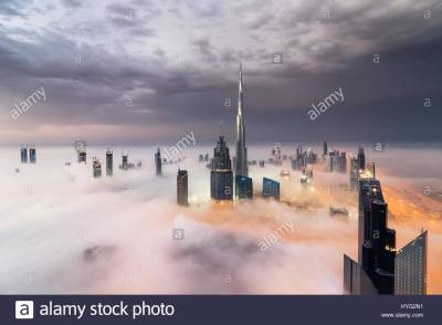 DUBAI, UAE: The tallest building in the world, Burj Khalifa. THE Stock Photo, Royalty Free Image ...