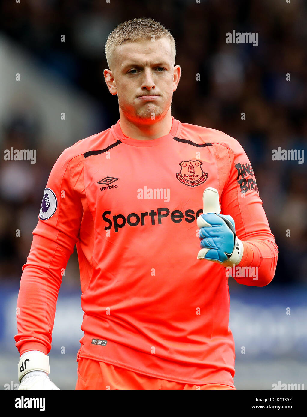 Everton goalkeeper Jordan Pickford Stock Photo  162293647   Alamy Everton goalkeeper Jordan Pickford