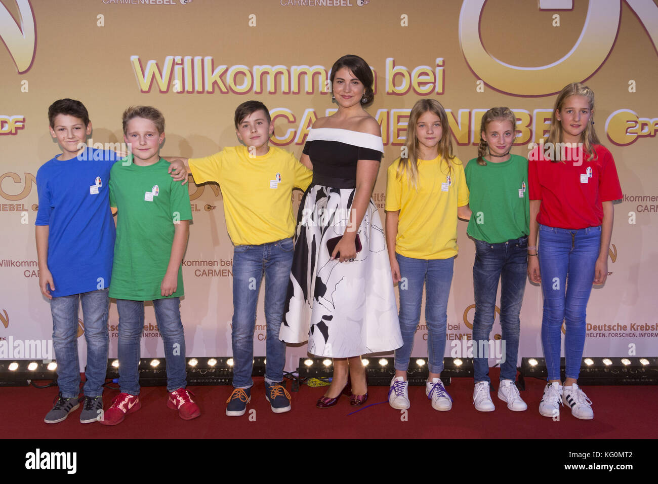 German ZDF live TV show  Willkommen bei Carmen Nebel  at TUI Arena     German ZDF live TV show  Willkommen bei Carmen Nebel  at TUI Arena   Featuring  Nadja Motov  Stacking Kids Where  Hamburg  Germany When  30 Sep  2017 Credit