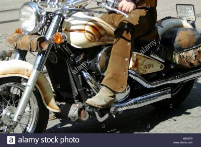 Man Harley Davidson Motorbike Stock Photos & Man Harley ...