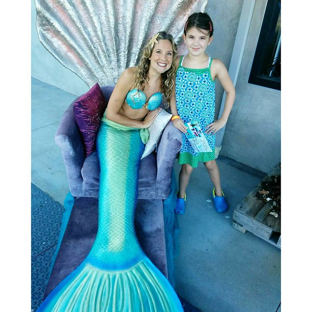 Today was one of the best days of Annika's whole life! She got to meet her hero, Mermaid Linden, and even got to swim with her!!! Annika's birthday is tomorrow and her greatest wish was to swim with Mermaid Linden. I am speechless that her wish really cam