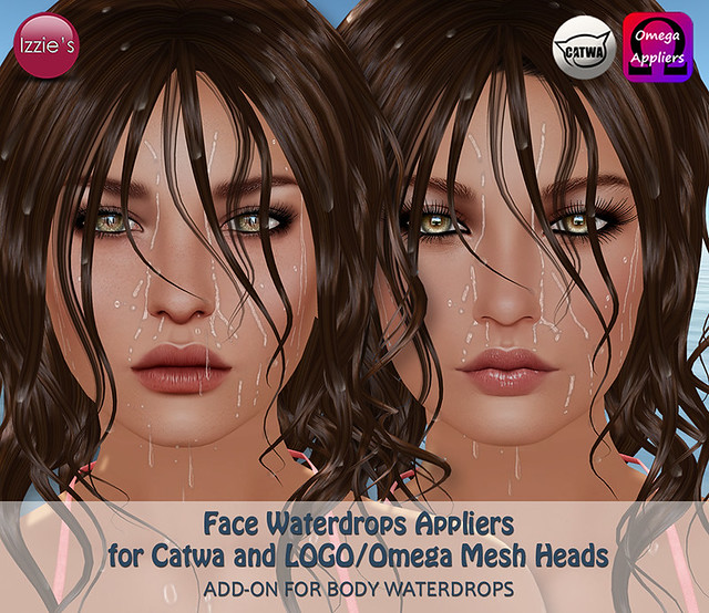 Face Waterdrops Applier Add-On Set (for Catwa and LOGO)