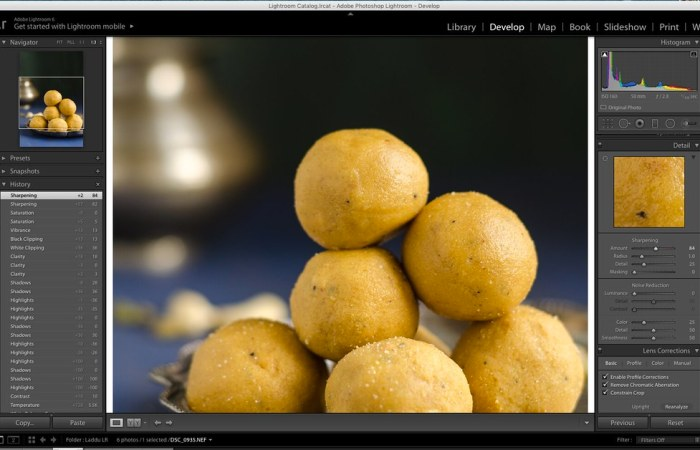 Sharpness in Lightroom, Lightroom Tutorial for Food photos, Lightroom tutorial, Editing RAW files in Lightroom,  Lightroom Food Tutorial, How to edit food photos in Lightroom,