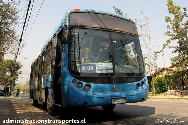 Transantiago E04   Unitran   Metalpar Tronador - Mercedes Benz / WH2065