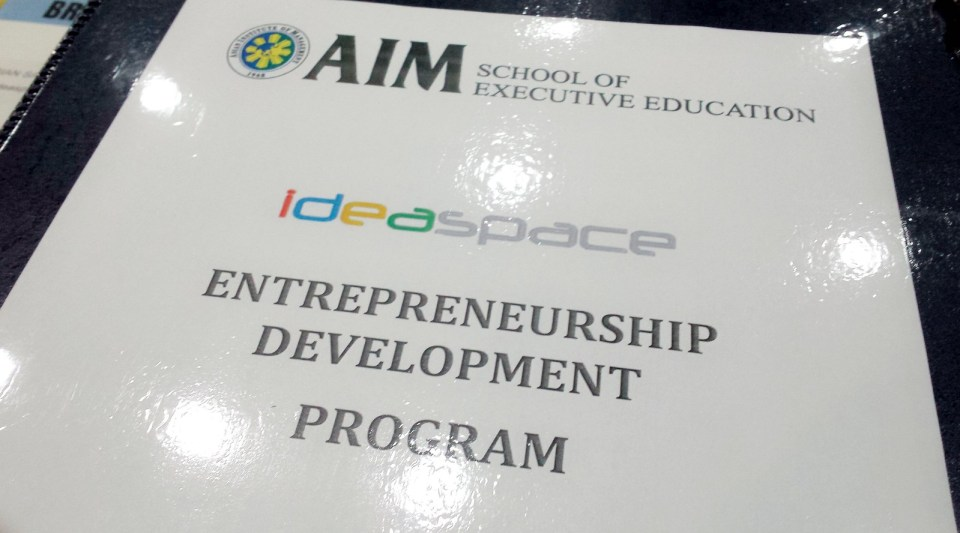 AIM - Ideaspace Entrepreneurship Development Program