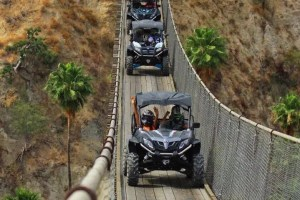 Cabo san lucas razor tours at wild canyon crossing bridge