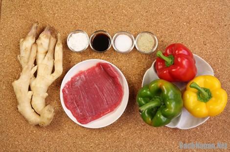 Thịt bò xào ớt chuông giản đơn mà ngon cơm