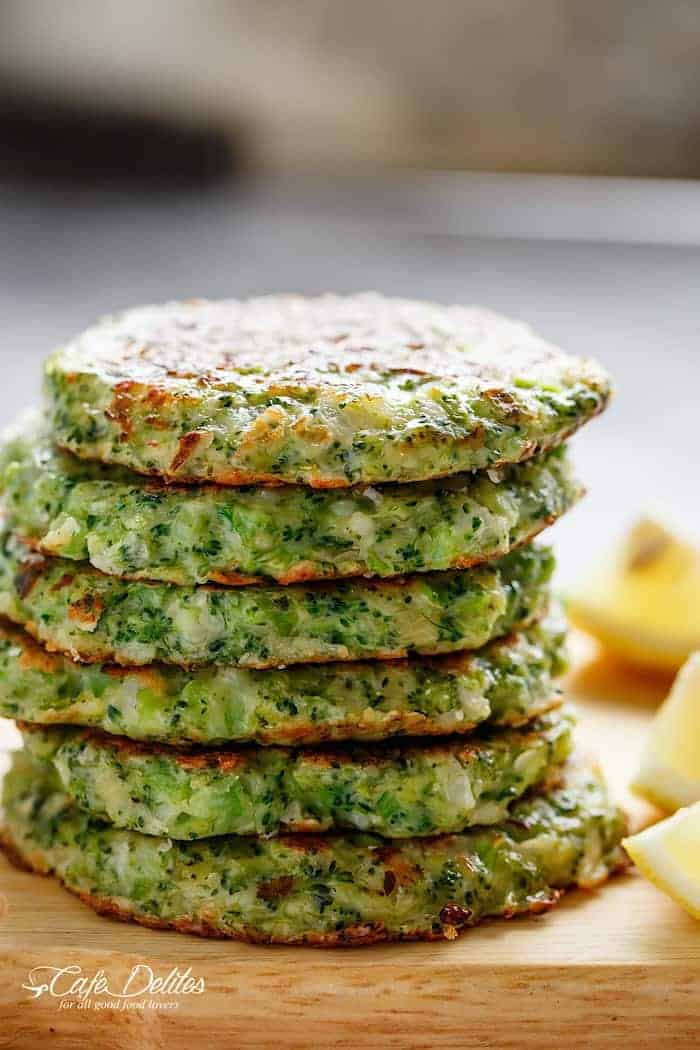 Crispy Broccoli Parmesan Fritters -- baked instead of fried -- is a ...