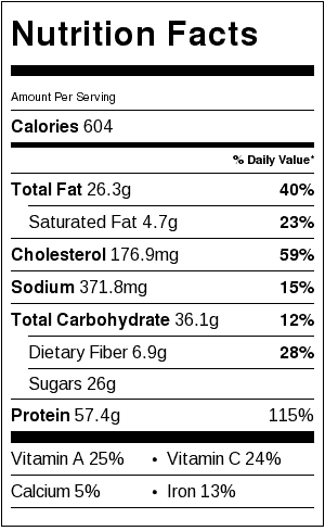 honey-mustard-chicken-avocado-bacon-salad-nutrition-label