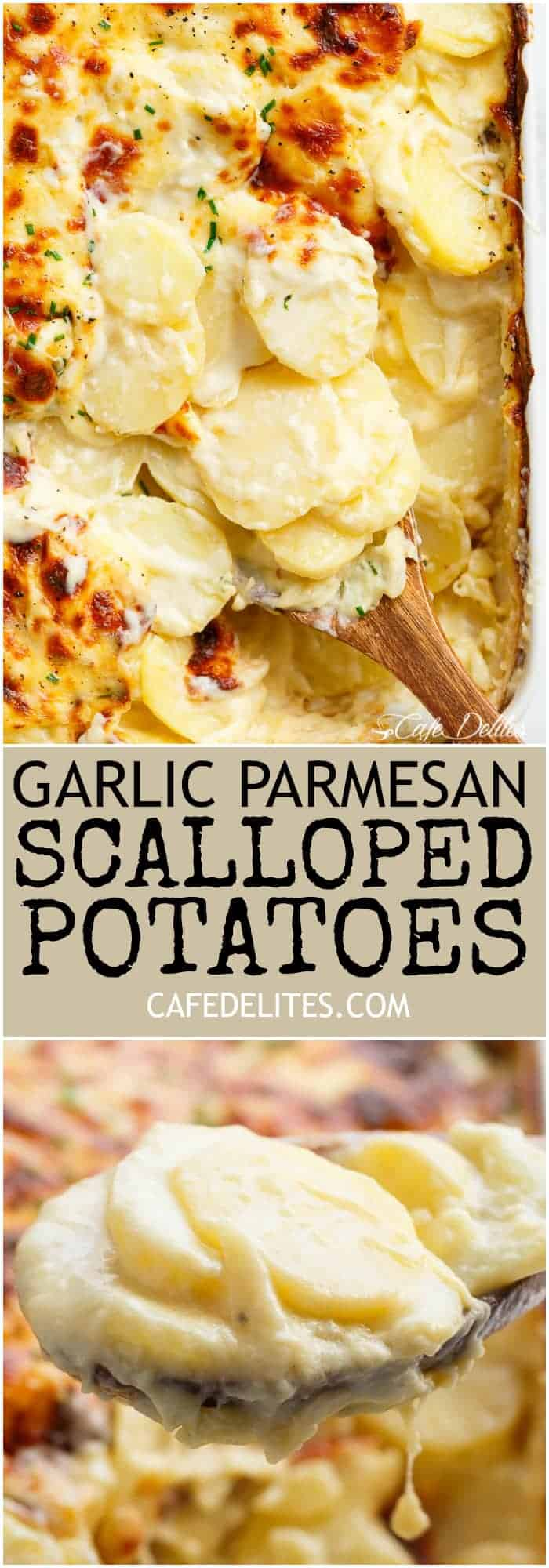 Exceptional Garlic Parmesan Scalloped Potatoes Layered Ken Mozzarella Is Garlic Parmesan Scalloped Potatoes Dirtygyro Garlic Parmesan Potatoes A Creamy Garlic Sauce Withparmesan Foil Garlic Parmesan P nice food Garlic Parmesan Potatoes