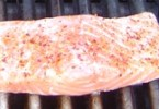 Grilled chile salmon