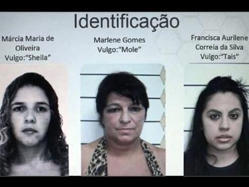 Polícia chegou a divulgar à imprensa foto das três mulheres acusadas de matar o motorista (Foto: Divulgação/Polícia Civil)