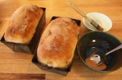 Raisin Bread with butter wash
