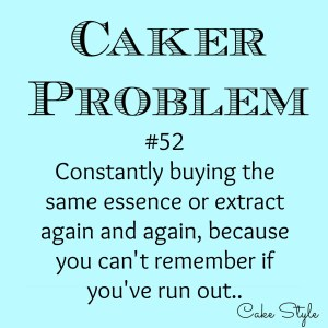 Caker Problem #52 – Re-buying the same crap
