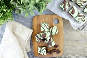 Peppermint Brownie Slice