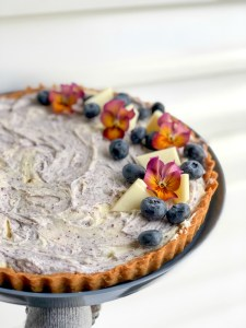 White Chocolate Blueberry Cheesecake Tart