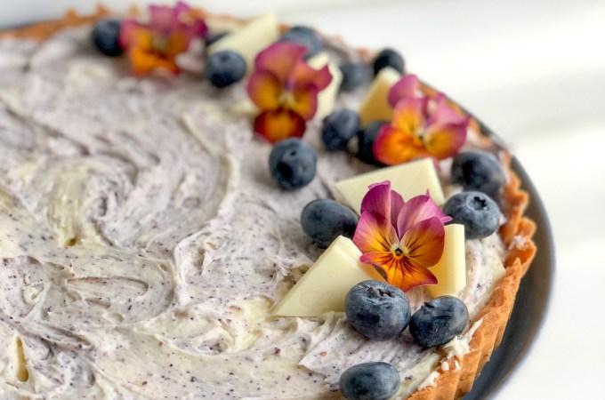 White Chocolate Blueberry Cream Cheese Tart