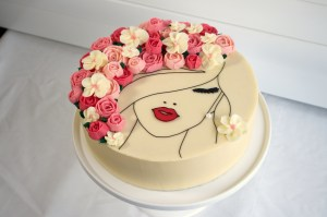 A Floral Face Cake Made of Gorgeous Buttercream Roses