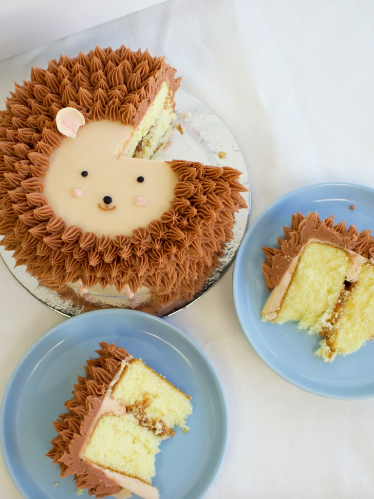 Hedgehog Cake cutting